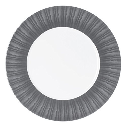 Table Passion - Plat presentation 31 cm madras gris