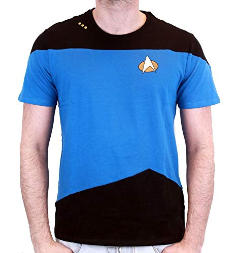 Camiseta Star Trek–Uniforme Spock, azul Bleu Homme S