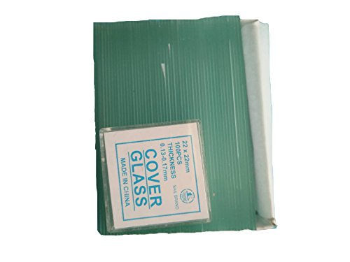 50PCS Blank Microscope Slides & 100 PCS Square Cover Glass (22mmx22mm) (7101 Non-frosted)