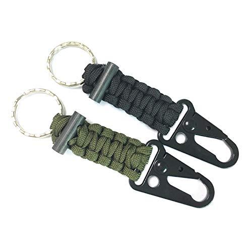 Paracorde Porte-clés avec Mousqueton  Noir