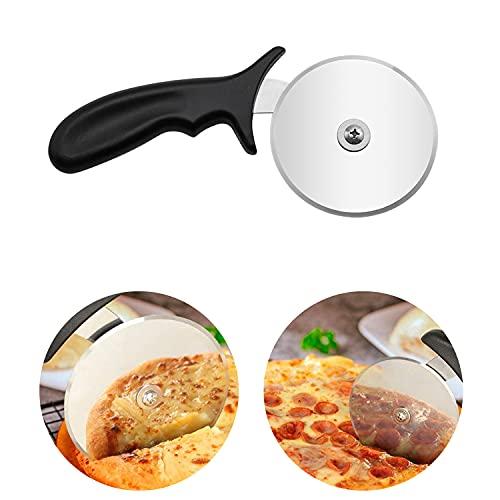 HENGBIRD Cortador de acero inoxidable para pizza, pan, cortador de pizza, cortador de pizza, cuchillo de cocina para el hogar Kn
