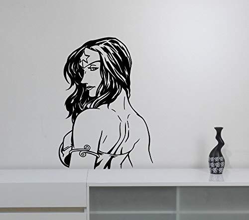 hetingyue muursticker voor dames, vinyl, zelfklevend, voor woonkamer, decoratie, kamer, strik, helden voor meisjes