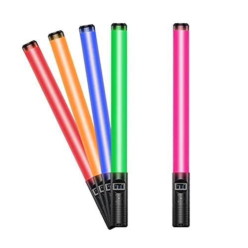 JDKC- Luz de Mano RGB, Varita de Luz de Video de Fotografía LED, Batería Recargable, CRI≥96, 3000-6500K, Pantalla OLED, 18 Modo de Iluminación, 2 Paquetes
