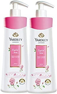 Yardley London English Rose Hand and Body Lotion, 350ml (Pack of 2)