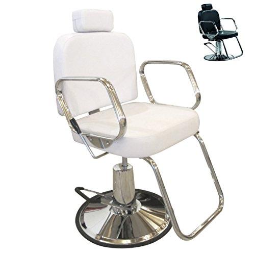 Polironeshop Siviglia - Sillón fijo para peluquería, barbería y maquillaje, color blanco