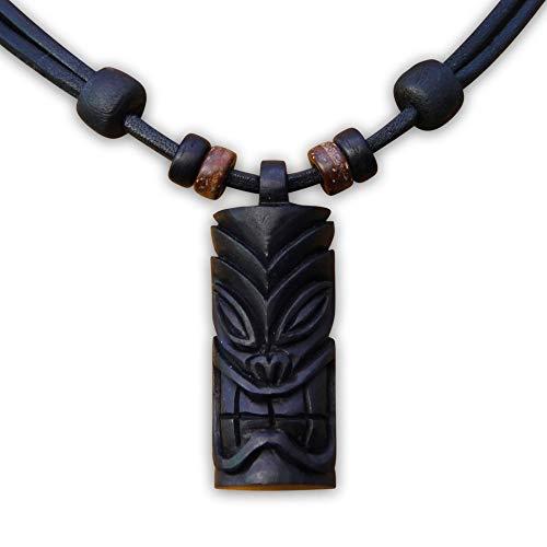 HANA LIMA ® Tikikette Tiki Surferkette Neuseeland Lederkette Surferhalskette Halsband