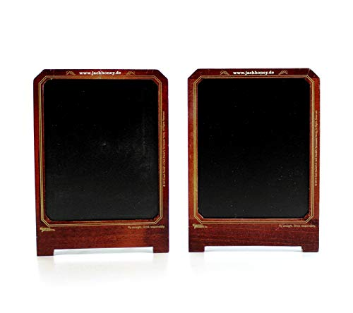 JACK DANIELS 2X Honey Tisch-Kreidetafel aus Holz 2er Set ~mn 1154 0943+