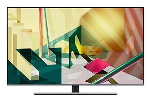 """Samsung TV QE75Q74TATXZT Smart TV 75"""", Serie Q74T QLED, 4K, Wi-Fi, Classe di Efficienza Energetica A, 2020, Eclipse Silver"""