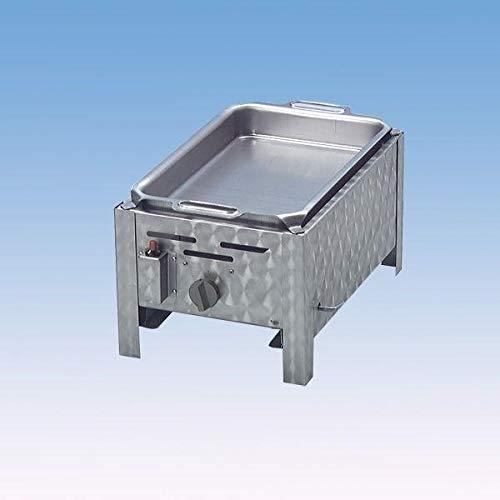 MLGV Gasbräter Gasgrill Grill 1-flammig mit Pfanne Tischgerät 3,6 KW