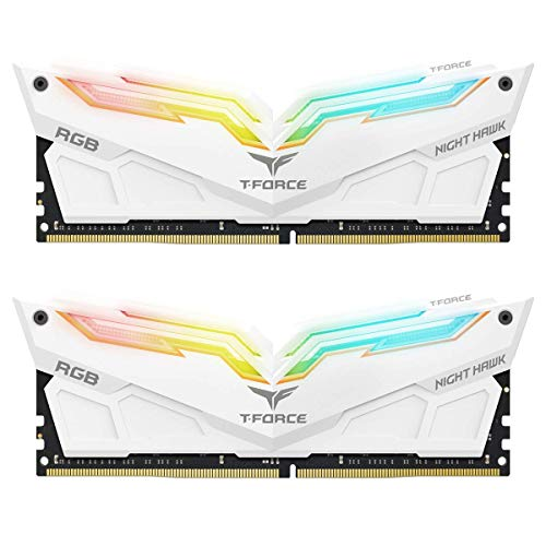Team Group Night Hawk RGB 16GB DDR4 3200MHz Arbeitsspeicher (16GB, 2x8GB, DDR4, 3200MHz, 288-pin DIMM)