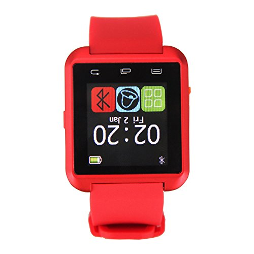 Inteligente Bluetooth Timorn reloj del reloj Manos Fit llamada gratuita para Smartphones IOS de Apple iPhone 4 / 4S / 5 / 5C / 5S Android Samsung S2 / S3 / S4 / Nota 2/3 Nota Smartphone Android (Rojo)