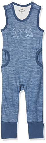 CeLaVi Ärmelloser Strampler in Weicher Wolle Außen Und Viskose Innen Grenouillère, Bleu (Ensign Blue 794), 68/74 (Taille Fabricant: 70) Mixte bébé