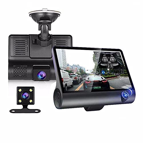 TONG Grabadora De Conducción, Pantalla HD 1080P, 170 ° De Gran Angular, Wi-Fi, Sensor G, Grabación De Bucle, Modo De Noche, Detección De Movimiento, Imagen De Inversión.