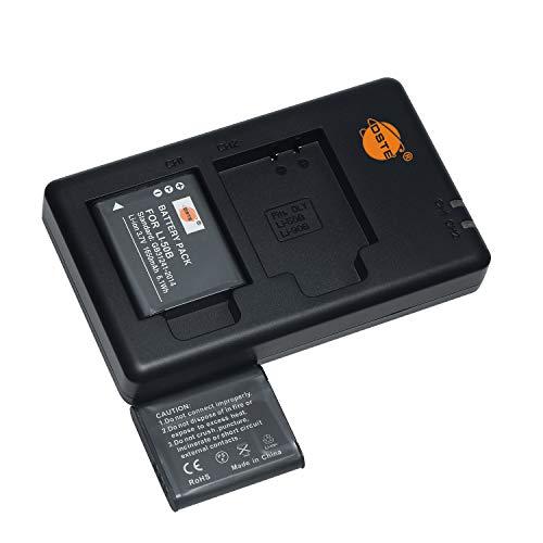 LI-50B - Batería recargable de repuesto y cargador dual compatible con Casio NP-150, Olympus Stylus 9000 9010 SP-800UZ SP-810UZ SZ-20 SP-720UZ iHS SZ-16 iHS Tough TG-870 XZ-10 VR-370, etc.