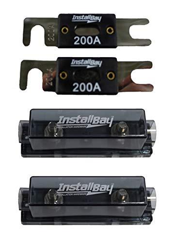 Pair of Nickel Plated ANLFH Fuse Holders Install Bay Metra + ANL-200 Fuses