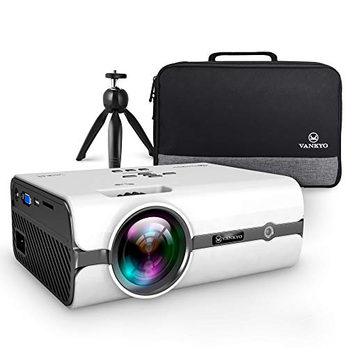 VANKYO L410 Native 720P Projector, Portable Projector Support 1080P and 180'' Display w/ 50,000 Hrs Lamp Life, Compatible w/ Smartphone, TV Stick, PS4, HDMI, VGA, TF, AV and USB, XBOX