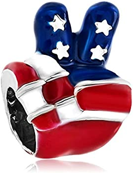 LovelyJewelry 4th of July Independence Day Charm Bead