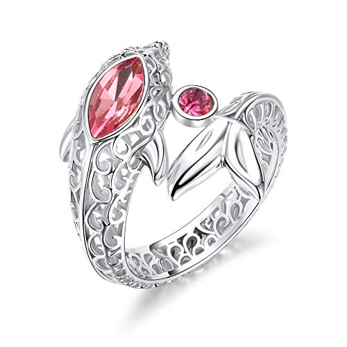 Crystal Cocktail Ring Dolphin