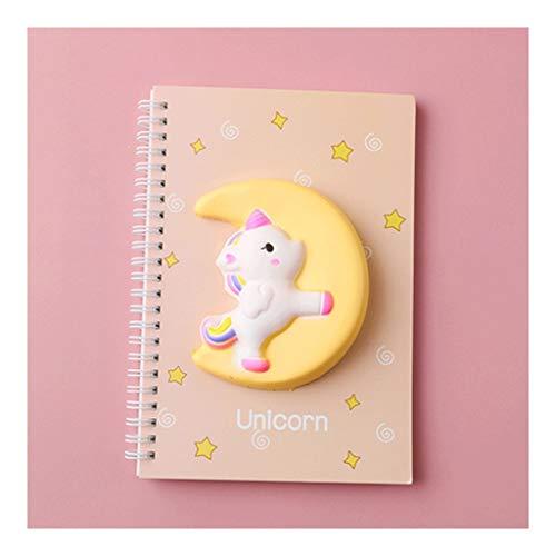 Cuaderno clásico Descomprimir el Notebook, PU A6 Espiral Encuadernación Cubierta Suave Diario Mini Bloc de Notas, Hojas de 80 142 * 208mm 5.5 * 8.1 Papel gobernado Paperback