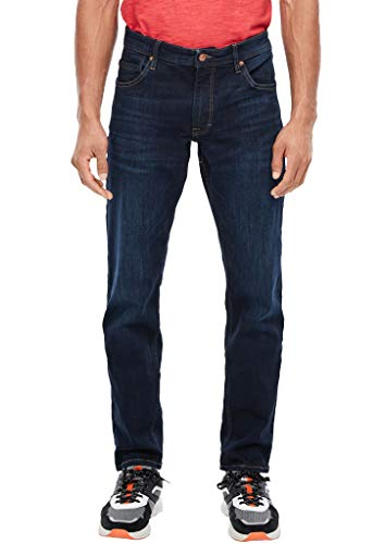 s.Oliver Herren Regular Fit: Straight leg-Jeans dark blue sretched 32.32