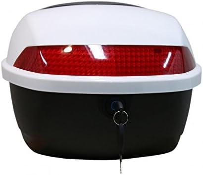 Gepäckträger Und Topcase Motoradkoffer Für Das E Scooter Modell Hawk 3000 Weiß Auto