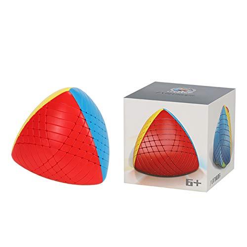 AKDSteel Cubo mágico de plástico de 20 x 20 cm, sin pegatina, diseño de arco suave, ideal como regalo para ocasiones importantes