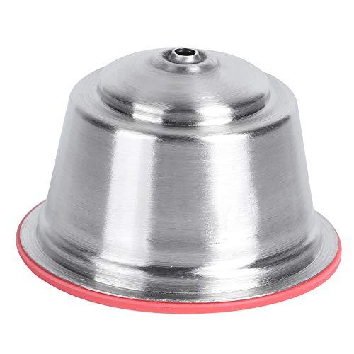 Cápsula de café reutilizable, cápsula de café recargable con una cubierta de polvo prensado reutilizable caliente para cafetera(rojo)