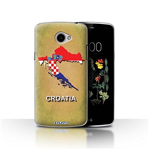 Hülle Für LG K5/X220 Flagge Land Kroatien/Kroatische Design Transparent Ultra Dünn Klar Hart Schutz Handyhülle Hülle