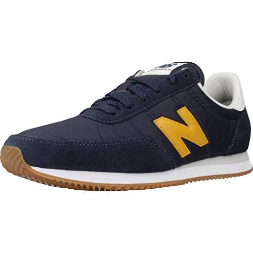New Balance UL720BA, Trail Running Shoe Hombre, Amarillo Azul Azul Marino, 32 EU