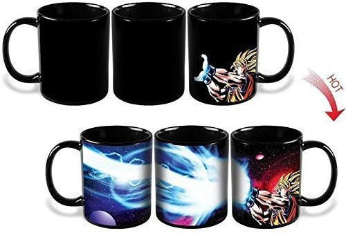 Lomenfly New Dragon Ball Z Goku Saiyan Ceramic Heat Reactive Coffee Mug Cup Gift