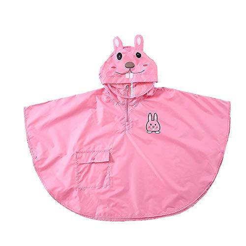 Imperméable pour enfants Guyuan Garçons Et Filles Stéréo Cartoon Maternelle Bébé Enfant Split Cape Poncho Léger Respirant (Color : Pink, Size : M)