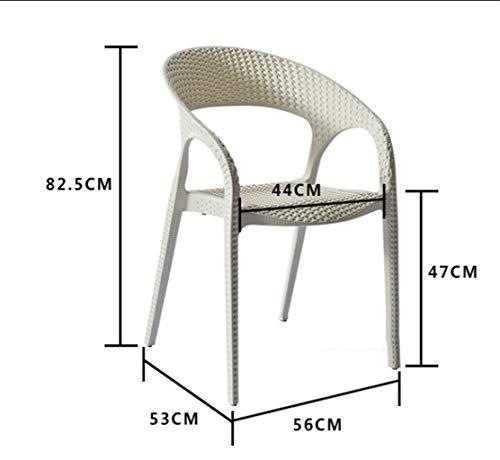 LRZS-Furniture Chaise en rotin Chaise de Bureau Chaise de Retour Fauteuil Loisirs Chaise de Jardin en Plein air Balcon Adulte Salon Chaise Chaise de Salon de thé (Couleur : Blanc)