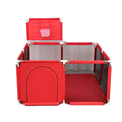 Vitila 22 sq ft Red Summer Infant Pop Up Playpen with Breathable Mesh,4...