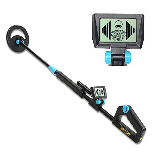 allsun TS20B Waterproof Metal Detector Junior Beginner Kids Underwater Beach Yard Ground Handheld Metal Detector LCD Adjustable Length Gold Hunter Searching