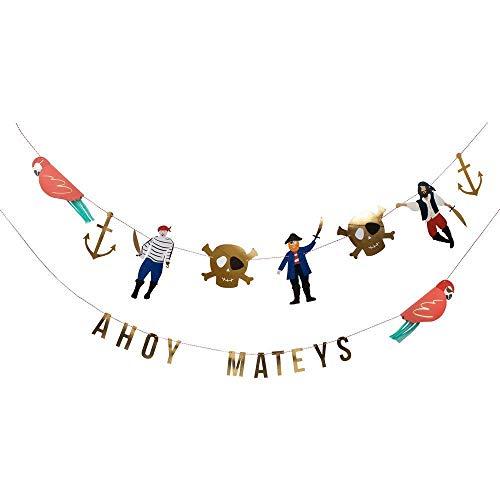 Piratenparty slinger motto piraten kinderverjaardag met goud veredeld door Meri Meri