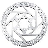 shimano - disco 160 mm 6 viti rt56 solo resina ciclismo unisex adulto, multicolore (argento/nero)