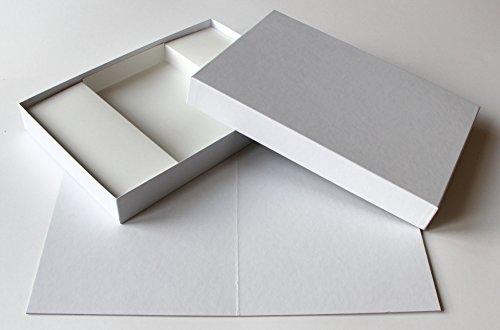Spieltz Juego de mesa para manualidades, juego de mesa en blanco, tablero de juego vacío de 30 x 40 cm + caja + inserto, papel de lino blanco, fabricado en Europa...