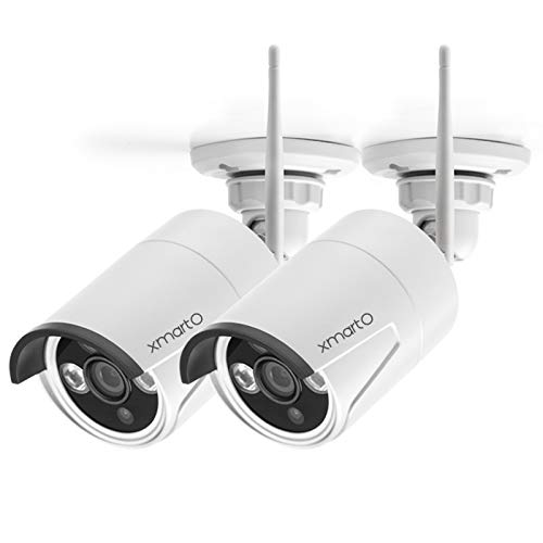 xmartO WB2024-W 2K Super HD WiFi Home Security Camera with Built-in Microphone (add-on Camera with 3.6mm Lens,Pack of 2)
