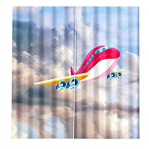 FACWAWF Tende 3D Decorazione della Tenda della Casa Soggiorno Camera da Letto Ombreggiatura Tende per La Protezione Solare Hotel Cafe Decorazioni per Tende della Porta 2xW75xH166cm