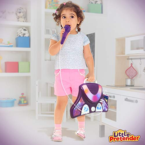 L P Kids Karaoke Machine with 2 Microphones and Adjustable Stand,...