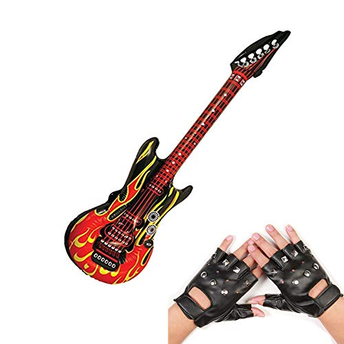 Punk Rocker Party Kit, Large Inflatable Guitar Punk Rocker Gloves--By...