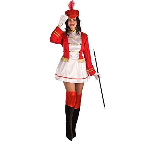 El Rey del Carnaval Disfraz de Majorette Roja para Mujer