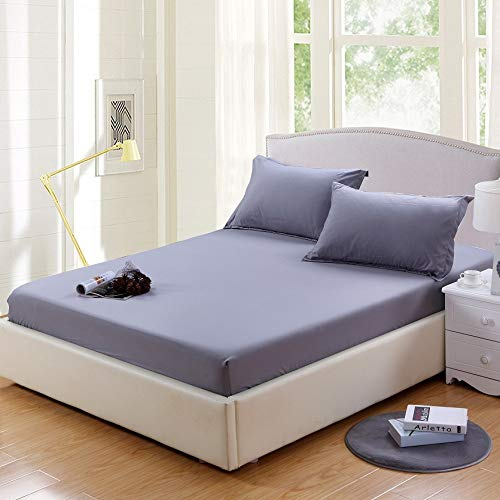 Huyiming Simmons matrasbeschermer, eenkleurig, voor eenpersoonsbed, 1,8 m, 2,0 m