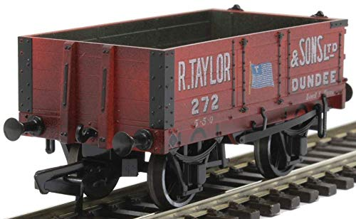 Oxford Rail OR76MW4002W 4 Plank Wagon R Taylor & Sons Ltd Weathered