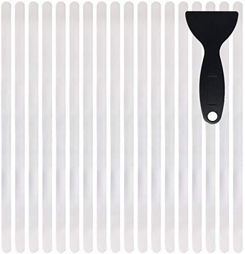 cocofy Anti Rutsch Streifen Aufkleber Treppe, transparent, XXL (75x3 cm), Sicherheit durch extra starken Halt, Treppenstufen Antirutsch innen Sticker - 18-Pack