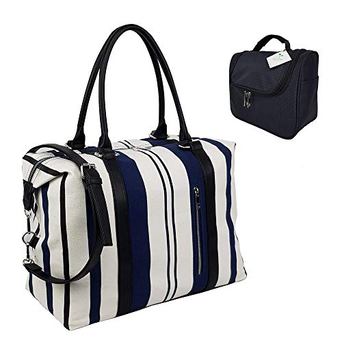 Best Prices! Ladies Women Travel Weekend Overnight Shoulder Bag Carry on Canvas Tote Duffel with Cos...
