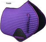 Gallop Prestige Coussin de Selle matelassé Contact Fermé Violet Taille réelle