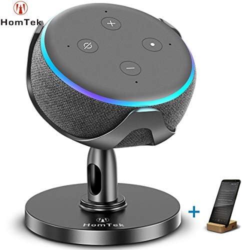 HomTek Echo Dot Stand Table Holder for Echo dot 3rd Generation 360 Adjustable Black product image