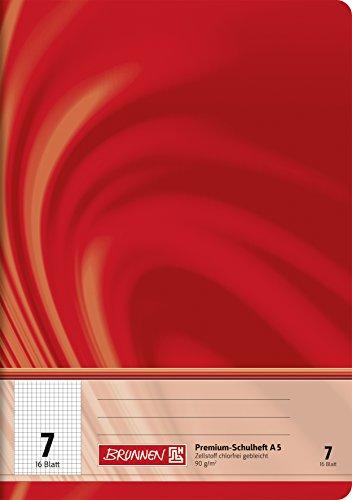 Brunnen 104570702 Schulheft A5 Vivendi (16 Blatt, 7 mm kariert, Lineatur 7)