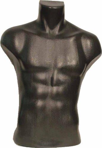 ONLY MANNEQUINS® Maniquí Femenino maniquí de Torso Masculino de Busto Negro (#5027)